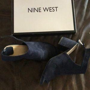 Blue Nine West Mules